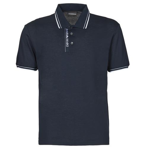 Clothing Men Short-sleeved polo shirts Emporio Armani 6H1F79 Marine