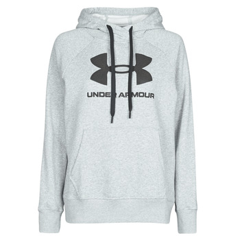 Clothing Women Sweaters Under Armour RIVAL FLEECE LOGO Grey