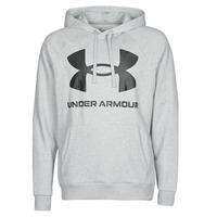 Clothing Men Sweaters Under Armour UA RIVAL FLEECE BIG LOGO HD Grey / Clear