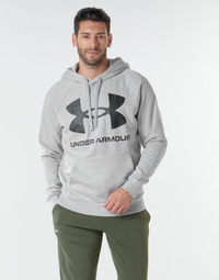 Clothing Men Sweaters Under Armour UA RIVAL FLEECE BIG LOGO HD Grey / Clear