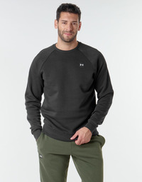 Clothing Men Sweaters Under Armour UA RIVAL FLEECE CREW Black