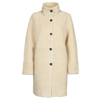 Clothing Women Coats Esprit LL* FAKE FUR Beige