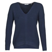 Clothing Women Jumpers Esprit OSN V-NECK-SW Blue