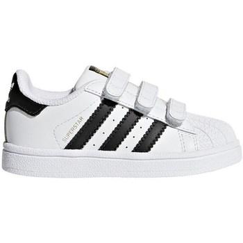 Shoes Children Low top trainers adidas Originals Superstar CF I White