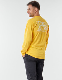 Clothing Men Long sleeved tee-shirts Vans 66 SUPPLY LS Yellow