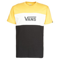 Clothing Men Short-sleeved t-shirts Vans RETRO ACTIVE SS Black / Yellow