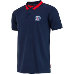 Clothing Men Short-sleeved polo shirts Weeplay Polo PSG Supporter logo bleu/rouge