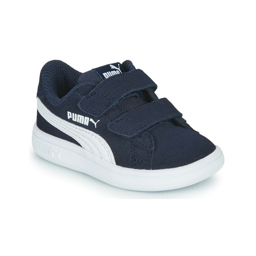 Shoes Children Low top trainers Puma SMASH INF Marine / White