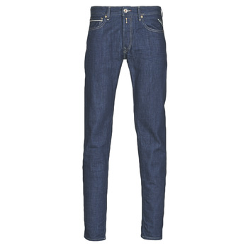 Clothing Men Straight jeans Replay GROVER Blue / Dark