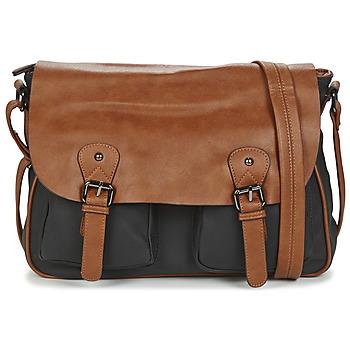 Bags Men Messenger bags Casual Attitude JATISE Black / Camel