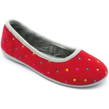 Shoes Women Derby Shoes & Brogues Padders Ballerina Womens Full Slippers red