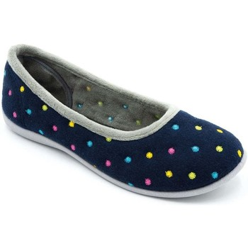Shoes Women Derby Shoes & Brogues Padders Ballerina Womens Full Slippers blue