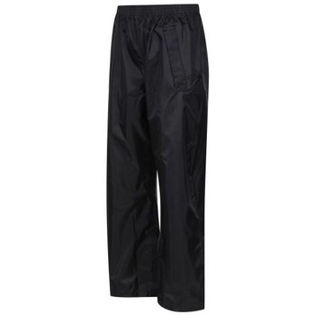 Clothing Children Tracksuit bottoms Regatta STORMBREAK Waterproof Overtrousers Black