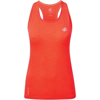 Clothing Women Tops / Sleeveless T-shirts Dare 2b MODERNIZE II Wicking Vest Orange