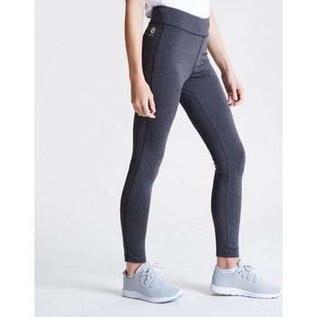 Clothing Women Leggings Dare 2b INFLUENTIAL Quick-Dry Tights Charcoal Grey Marl Grey Grey