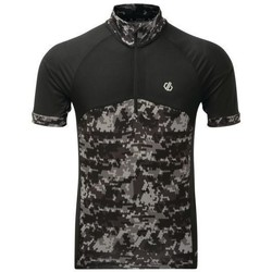 Clothing Men short-sleeved t-shirts Dare 2b Stay The Course Half Zip Cycling Jersey Black Black