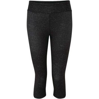 Clothing Women Trousers Dare 2b INFLUENTIAL Quick-Dry 3/4 Tights Charcoal Grey Marl Black Black