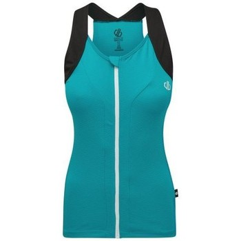 Clothing Women Tops / Sleeveless T-shirts Dare 2b Regale Full Zip Cycling Vest Blue Blue