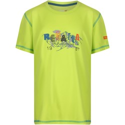 Clothing Children Short-sleeved t-shirts Regatta Kids' Alvarado IV Go For It Graphic Print T-Shirt Green