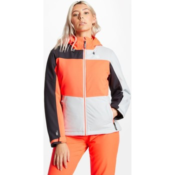 Clothing Women Coats Dare 2b Purview Ski Jacket Argent Grey Fiery Coral Ebony Grey Grey