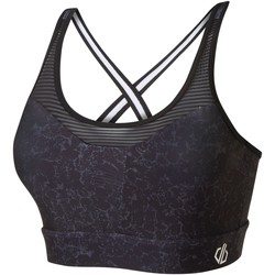 Clothing Women Sport bras Dare 2b Mantra Printed Sports Bra Black Black