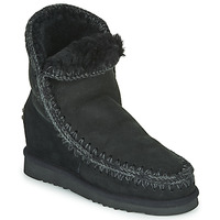 Shoes Women Mid boots Mou ESKIMO INNER WEDGE SHORT Black