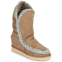 Shoes Women Mid boots Mou ESKIMO INNER WEDGE TALL Beige