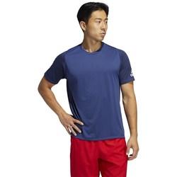 Clothing Men Short-sleeved t-shirts adidas Originals Training White,Blue