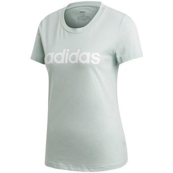 Clothing Women Short-sleeved t-shirts adidas Originals Essentials Linear Slim Tee Celadon
