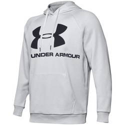 Clothing Men Sweaters Under Armour Rival Fleece Logo Hoodie Grey