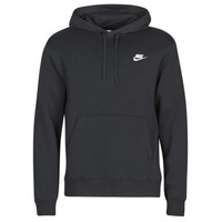 Clothing Men Sweaters Nike M NSW CLUB HOODIE PO BB Black / White