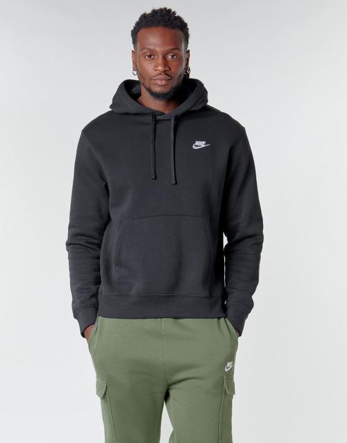 Clothing Men Sweaters Nike M NSW CLUB HOODIE PO BB Black / White