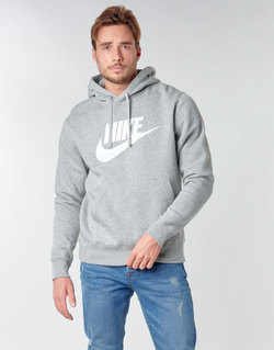 Clothing Men Sweaters Nike M NSW CLUB HOODIE PO BB GX Grey