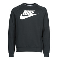 Clothing Men Sweaters Nike M NSW MODERN CRW FLC HBR Black / White
