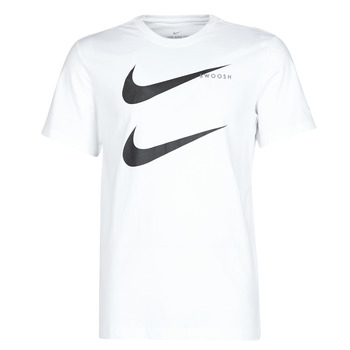 Clothing Men Short-sleeved t-shirts Nike M NSW SS TEE SWOOSH PK 2 White