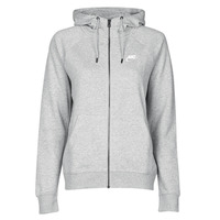 Clothing Women Sweaters Nike W NSW ESSNTL HOODIE FZ FLC Grey