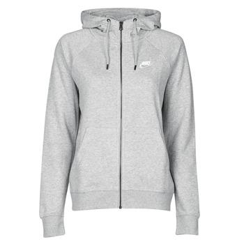 Clothing Women Sweaters Nike W NSW ESSNTL HOODIE FZ FLC Grey