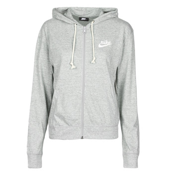 Clothing Women Sweaters Nike W NSW GYM VNTG HOODIE FZ Grey