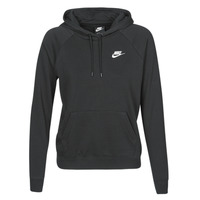 Clothing Women Sweaters Nike W NSW ESSNTL HOODIE PO FLC Black