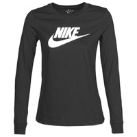 Clothing Women Long sleeved tee-shirts Nike W NSW TEE ESSNTL LS ICON FTR Black