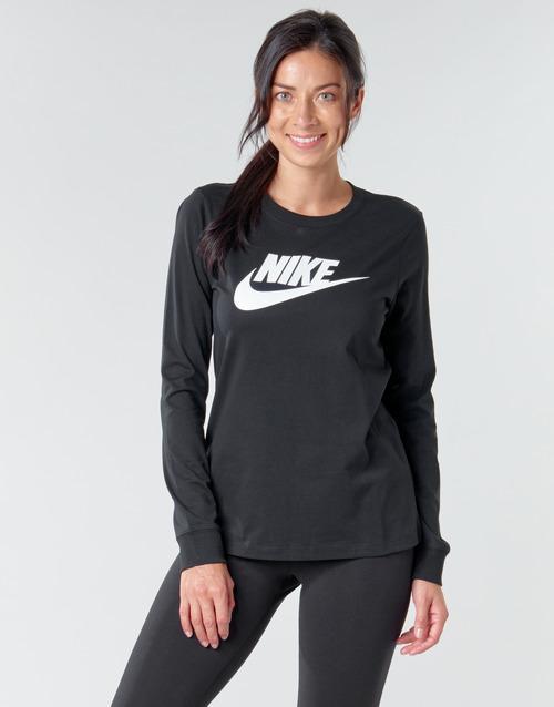 Clothing Women Long sleeved tee-shirts Nike W NSW TEE ESSNTL LS ICON FTR Black