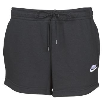Clothing Women Shorts / Bermudas Nike W NSW ESSNTL SHORT FT Black