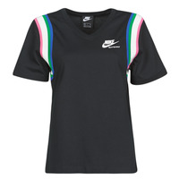 Clothing Women Short-sleeved t-shirts Nike W NSW HRTG TOP Black