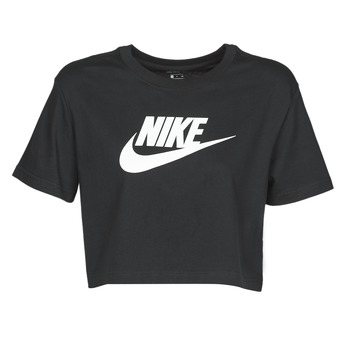 Clothing Women Short-sleeved t-shirts Nike W NSW TEE ESSNTL CRP ICN FTR Black