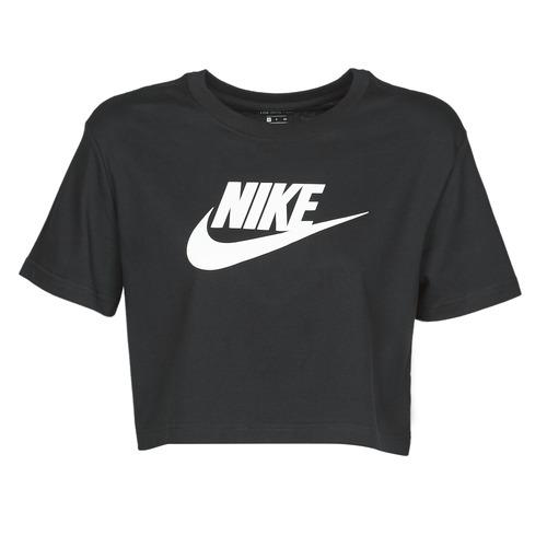 Clothing Women Short-sleeved t-shirts Nike W NSW TEE ESSNTL CRP ICN FTR Black