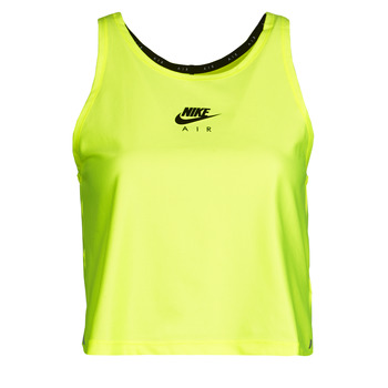 Clothing Women Tops / Sleeveless T-shirts Nike W NK AIR TANK Yellow