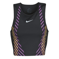 Clothing Women Tops / Sleeveless T-shirts Nike W NK TOP RUNWAY GX Black