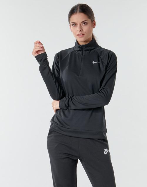 Clothing Women Long sleeved tee-shirts Nike W NK PACER HZ Black