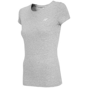 Clothing Women short-sleeved t-shirts 4F NOSH4 TSD001 Chłodny Jasny Szary Melanż Grey