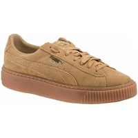 Shoes Women Low top trainers Puma Suede Platform Beige